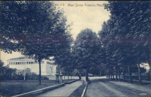 Franklin MA Main St. c1910 Postcard
