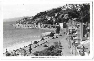 RPPC Oriental Bay Wellington New Zealand 1930s & 40s Cars