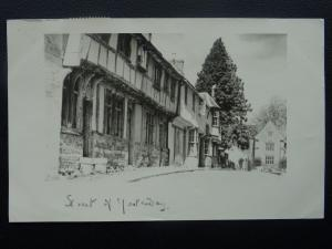 Dorset CERNE ABBAS Abbey Street STREET OF YESTERDAY c1950's Postcard by Lake