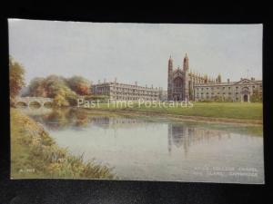 Cambridge: King's College Chapel & Clare c1948 by Valentine's A.903 Brian Gerald