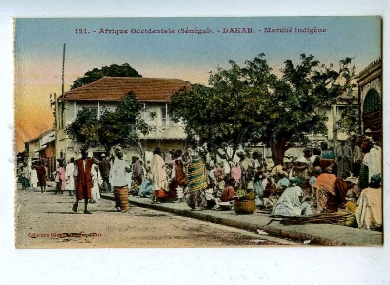 203213 Senegal DAKAR native market Vintage postcard