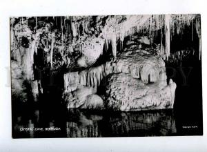 206404 BERMUDA crystal Cave Vintage photo postcard