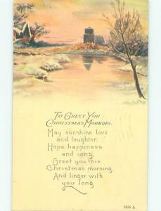 Divided-Back CHRISTMAS SCENE Great Postcard AA0290
