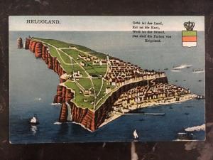 Mint Heligoland Picture Postcard PPC Island Map