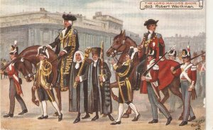 The Lord Mayors Show. Robert Weithnan. Horses Tuck Oilette PC # 9456