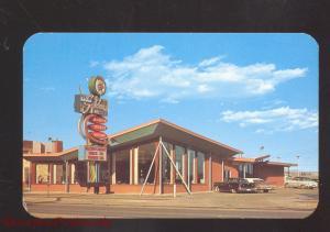 COLORADO SPRINGS COLORADO SCOTCHMAN RESTAURANT 1950's CARS OLD POSTCARD