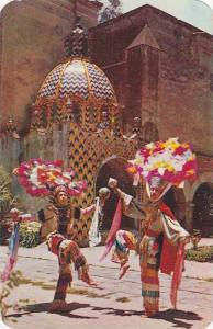 Feather Dancers in front of Churubusco Convent, Mexico, Distrito Federal, 40-60s