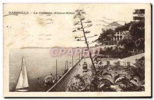 Old Postcard Marseille Corniche Palace Hotel