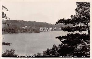 C50/ Menomonie Wisconsin Wi RPPC Real Photo Postcard c50s Lake Menomin Bridge