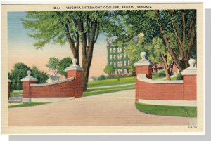 Bristol,Virginia/VA Postcard,Intermont College #2,Near Mint!