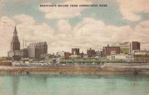 Postcard Skyline Hartford Conn