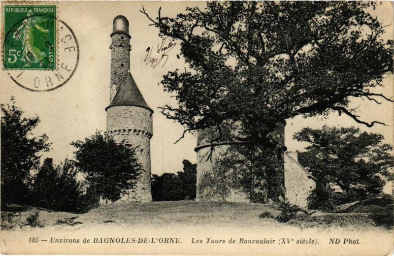 CPA   Environs de Bagnoles-de-L'Orne - Les Tours de Bonvouloir (XV s. ) (356222)