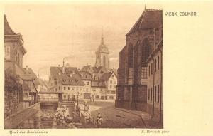 France Vieux Colmar Quai des Dominicains M. Hertrich Pinx