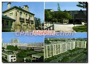 Postcard Modern Bagneux Hotel De Ville Park Gabriel Cosson school Joliot Curi...