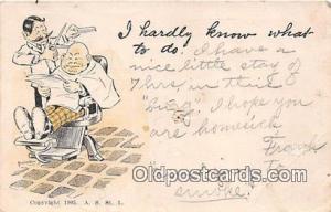 Barber  Postcards Post Cards Old Vintage Antique  Barber