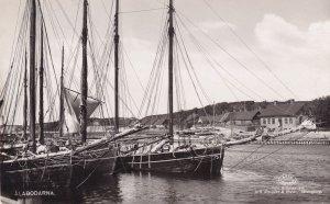 Alabordana Swedish Fishing Village Fisherman Real Photo Postcard
