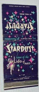 Stardust Home of the Lido Paris Aristocrat 30 Strike Matchbook Cover