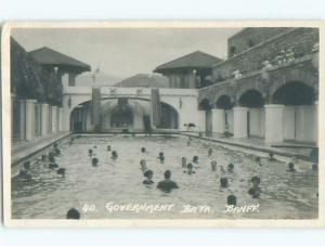 Bent - 1923 RPPC - GOVERNMENT BATH IN BANFF Alberta AB p2595