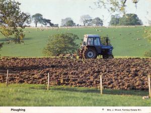 Postcard Ploughing, Farming, Farnley Estate, Huddersfield, West Yorkshire N63