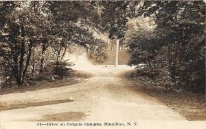 F31/ Hamilton New York NY RPPC Postcard c1910  Colgate University Drive 3