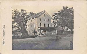 West Newfield ME General Store in 1908 Real Photo Postcard