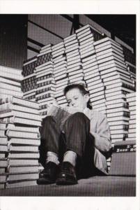 Student Young Boy Reading Circa 1960