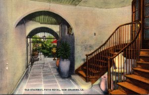 Louisiana New Orleans Patio Royal Old Stairway Curteich