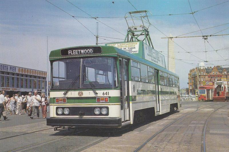 Tram 641 To Fleetwood Centenary Trams Blackpool Postcard