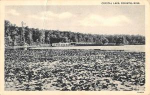 Corinth Mississippi Crystal Lake Waterfront Antique Postcard K102945