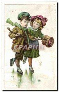 Chromo Ricordeau Loudun Cassegrain Children Skates has galce