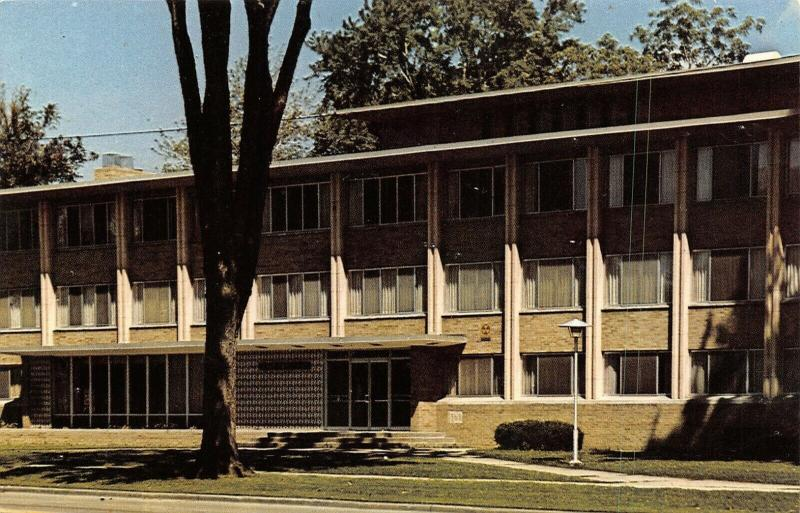 Appleton Wisconsin~Lawrence University~Samuel Platz Hall~1960s Postcard