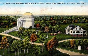 Mississippi Vicksburg National Military Park Illinois State Monument and Old ...