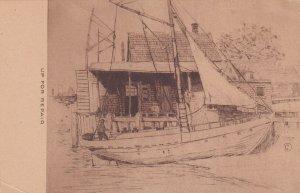 MASSACHUSETTS, 1900-1910s; Ship Up For Repair