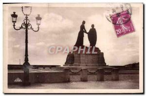 Old Postcard Le Havre Monument Belgian Recognition