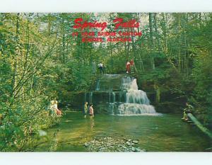 Unused Pre-1980 SPRING FALLS AT ROCK BRIDGE CANYON Hodges Alabama AL t4020