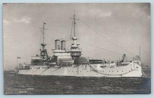 Postcard USS Illinois RPPC E Muller Real Photo Pre 1907 V10