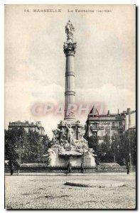 Postcard Old Marseille Fontaine Cantini