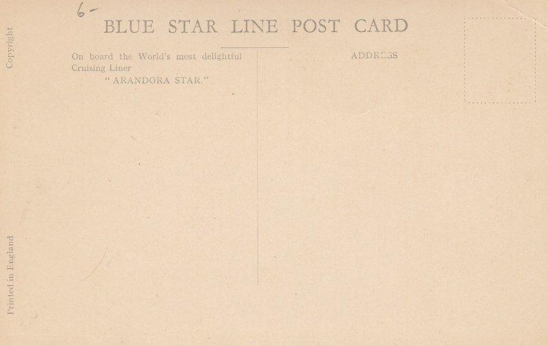 Blue Star Line Ocean Liner S.S. ARANDORA STAR Ballroom , 1927