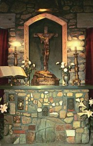 Rindge, NH, Chaplain's Altar, Cathedral of the Pines, Vintage Postcard g8496