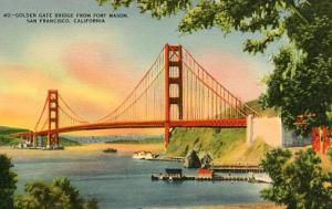 CA - San Francisco, Golden Gate Bridge from Ft. Mason