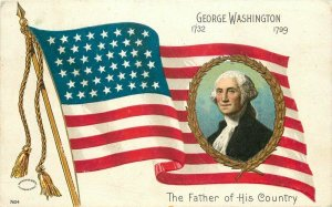 Artist impression C-1910 George Washington Father of Country #7604 Postcard 8182