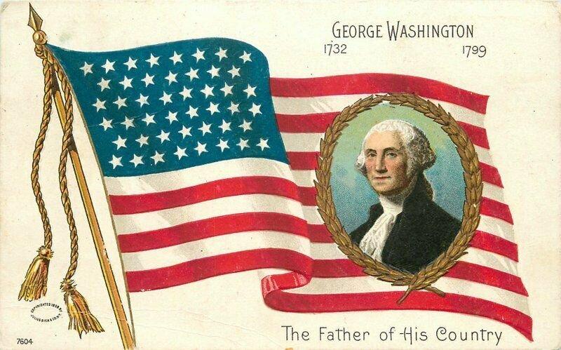 Artist impression C-1910 George Washington Father of Country #7604 Postcard 8182