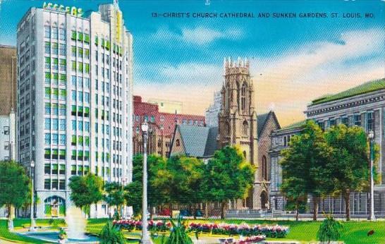 Missouri Saint Louis Christ's Church Cathedral And Sunken Gardens