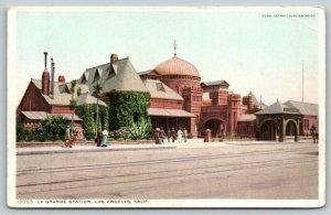 Los Angeles CA~La Grande Railroad Depot~Passenger Station~c1910 Detroit Pub Co