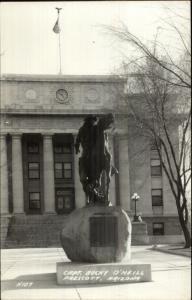 Prescott AZ Bucky O'Neill Monument & Court House Real Photo Postcard