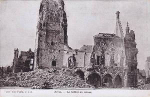 Le Beffroi En Ruines, Arras (Pas-de-Calais), France, 1900-1910s