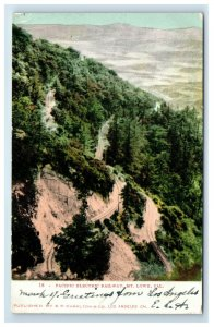 1907 Mt Lowe California Pacific Electric Railway Postcard Hand Colored Undivided