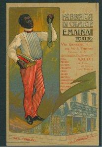 Lib1092 - CARTOLINA d'Epoca PUBBLICITARIA Illustrata - CAMICIE Maina TORINO