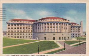 Pennsylvania Harrisburg Educational Building Capitol Park 1941 Curteich