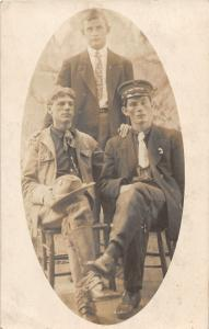 F13/ Occupational RPPC Postcard c1910 Soldiers? Work Crew? 28